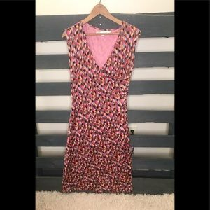 Diane Von Furstenberg size 10 geometric silk dress